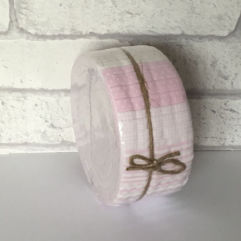 "Basic Essentials Strippers 'Jelly Roll' Pink  FJBE2 (40, 2.5"" x 44"" strips of patchwork fabric)"